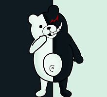 Monokuma - Dangan Ronpa W Background by leaficia