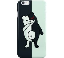 Monokuma - Dangan Ronpa W Background iPhone Case/Skin
