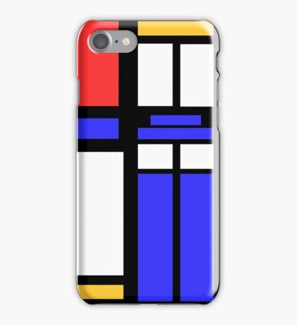 Color Block TARDIS iPhone Case/Skin