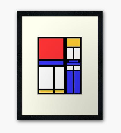 Color Block TARDIS Framed Print