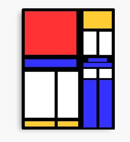 Color Block TARDIS Canvas Print