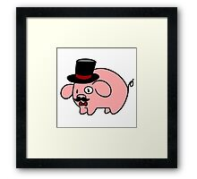 Fancy Pig Framed Print