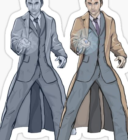 Dr Who Ten- Warhol Style Sticker