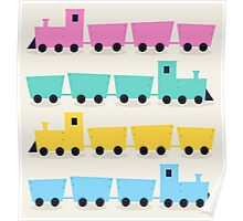 New art in Shop : stylish colorful cartoon vehicles Poster