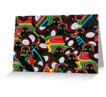 Disco Darth - Space Fantasy Abstract Greeting Card