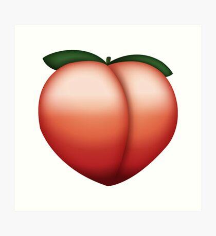 Peach Emoji Art Print