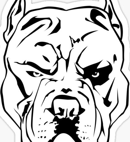 Angry Pitbull Sticker