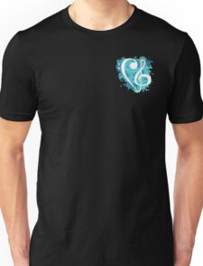 Treble & Bass Cleff splatter design Unisex T-Shirt