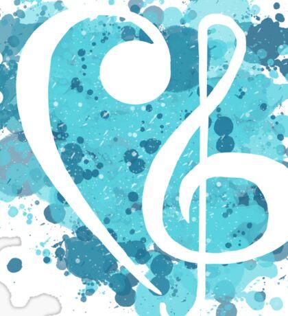 Treble & Bass Cleff splatter design Sticker