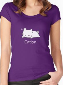 Funny Cat T-shirt for Science Lovers  Women's Fitted Scoop T-Shirt