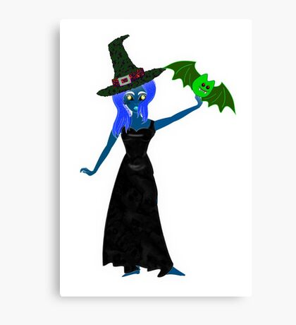 The Halloween Witch's Daughter T-shirt Canvas Print