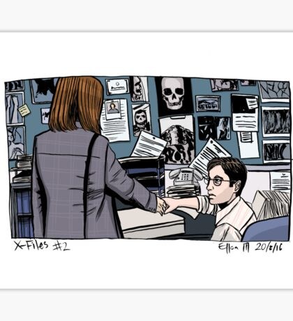 X-Files - Scully and Mulder Sticker