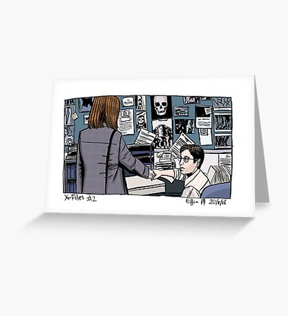 X-Files - Scully and Mulder Greeting Card