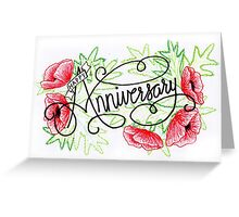 Hand drawn Anniversary Card Greeting Card