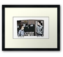 Agent Scully and Agent Mulder Framed Print