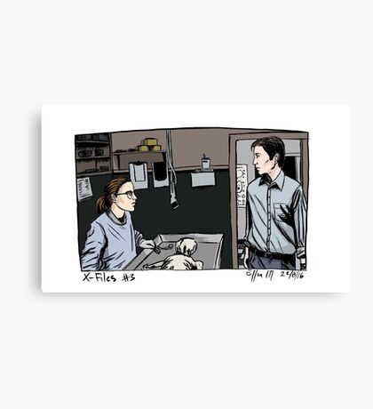 X-Files - Agents Canvas Print
