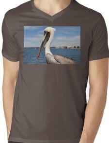 San Diego Pelican Mens V-Neck T-Shirt