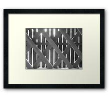 Covered bridge rays of light Framed Print