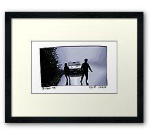 X-Files - Shadows Framed Print