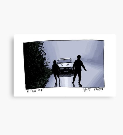 X-Files - Shadows Canvas Print