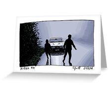 X-Files - Shadows Greeting Card
