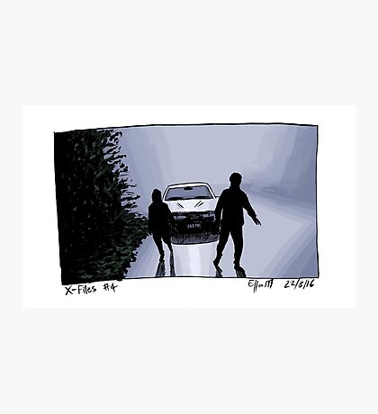 X-Files - Shadows Photographic Print