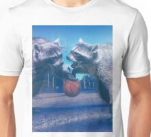 Racoon Basketball Game Unisex T-Shirt
