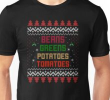 Beans, Greens, Potatoes, Tomatoes Thanksgiving Unisex T-Shirt