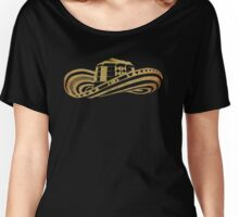 Colombian Sombrero Vueltiao in Gold Leaf Women's Relaxed Fit T-Shirt