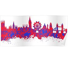 Watercolor art of the skyline of London Poster
