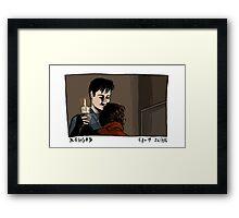 X-Files - Hug Framed Print