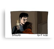 X-Files - Hug Canvas Print
