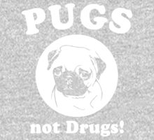 Pugs Not Drugs One Piece - Short Sleeve