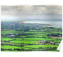 Patchwork countryside of Dingle Peninsula, Ireland Poster