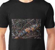 Rotten Trunk With Mushrooms Unisex T-Shirt