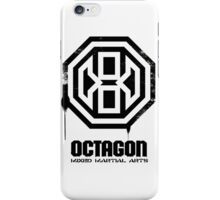 Octagon MMA Spray Logo (Black) iPhone Case/Skin