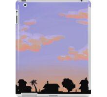 sunset neighborhood iPad Case/Skin