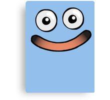Huggable Slime Smile Canvas Print