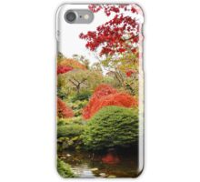 Butchart Japanese Garden in the Fall iPhone Case/Skin