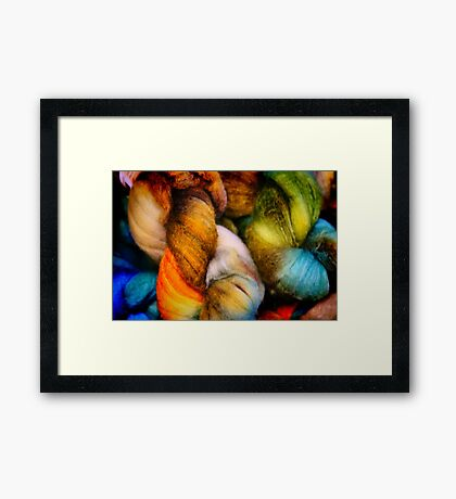 Dyed in the Wool Framed Print