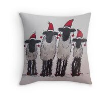 Christmas Sheep Throw Pillow