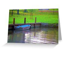 Rowboat in Autumn Greeting Card