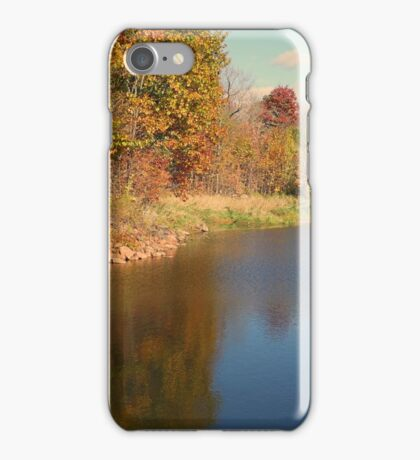 Autumn Water Landscape Reflection Photo iPhone Case/Skin