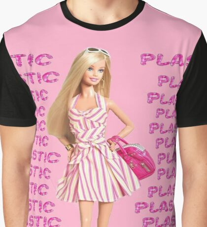 """Plastic"" Glitter Pink Pastel Graphic T-Shirt"