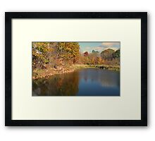 Autumn Water Landscape Reflection Photo Framed Print