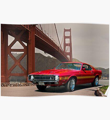 1971 Mustang Cobra GT500 Poster