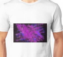 pink blue and purple painting Unisex T-Shirt