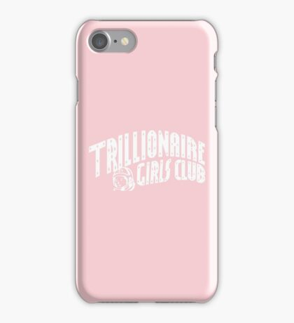 Trillionaire Girls Club (Billionaire boys club v.2) WHITE ON PINK iPhone Case/Skin