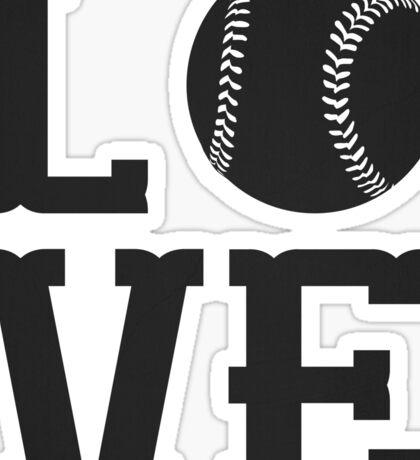 Baseball Love 2 Sticker