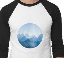 Mountains in Blue Men's Baseball ¾ T-Shirt